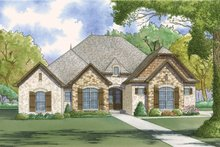 Home Plan - European Exterior - Front Elevation Plan #923-51
