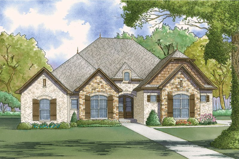 European Exterior - Front Elevation Plan #923-51