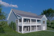 Traditional Style House Plan - 3 Beds 3.5 Baths 2088 Sq/Ft Plan #923-177 Exterior - Rear Elevation
