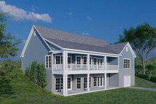 Dream House Plan - Traditional Exterior - Rear Elevation Plan #923-177