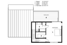 Modern Floor Plan - Upper Floor Plan Plan #497-31