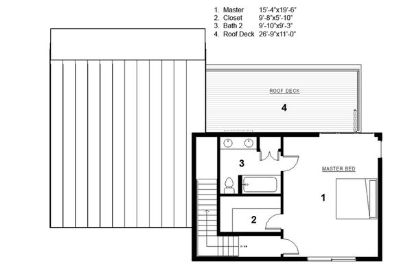 Dream House Plan - Modern Floor Plan - Upper Floor Plan #497-31