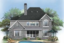 House Plan Design - Traditional Exterior - Rear Elevation Plan #929-45