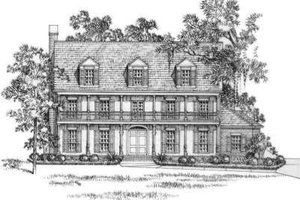 Southern Exterior - Front Elevation Plan #325-256