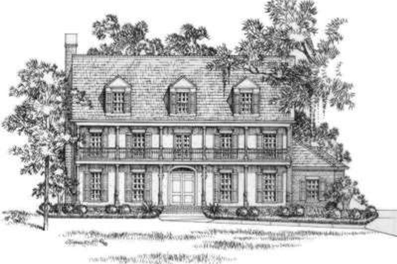 Southern Exterior - Front Elevation Plan #325-256 - Houseplans.com