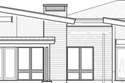 Contemporary Style House Plan - 4 Beds 2.5 Baths 2839 Sq/Ft Plan #895-41 Exterior - Rear Elevation