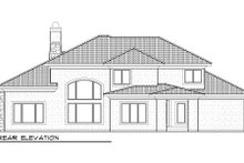 Dream House Plan - Traditional Exterior - Rear Elevation Plan #70-994