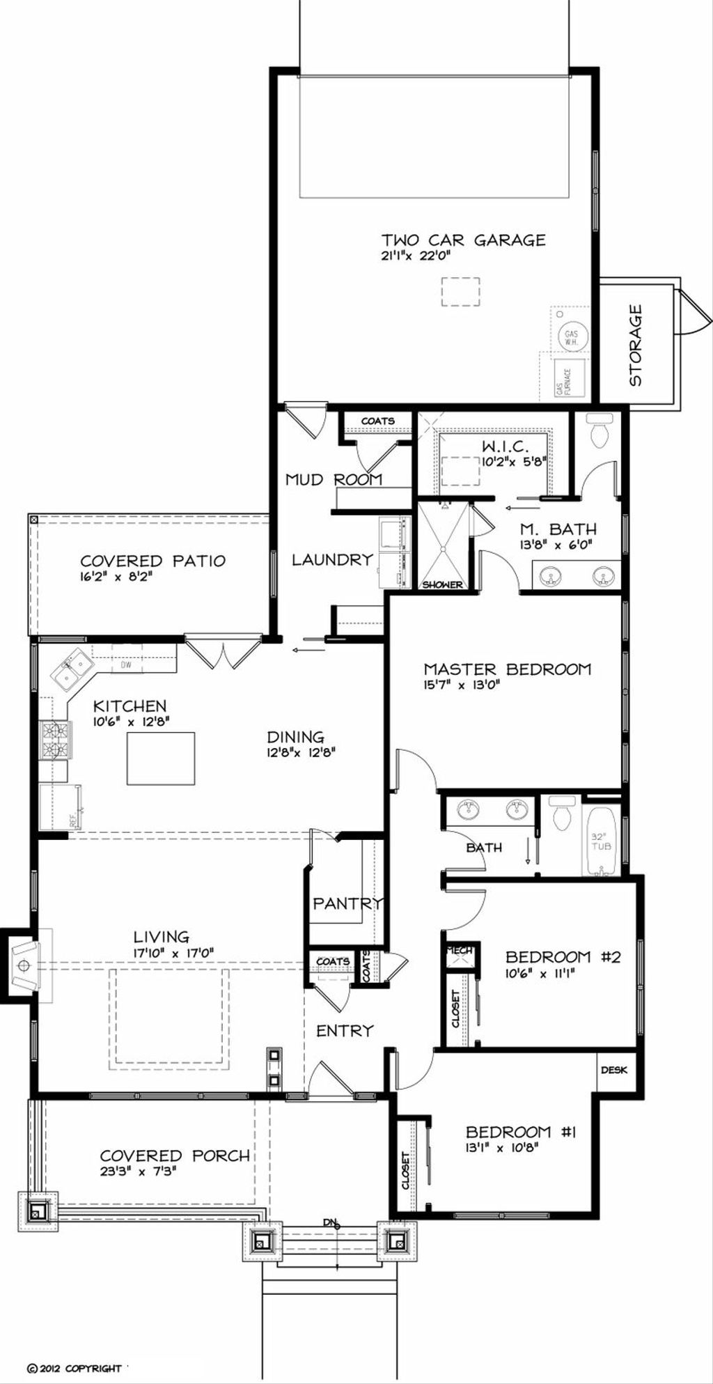 craftsman style house plan 3 beds 2 baths 1749 sq ft plan 434 17craftsman style house plan 3 beds 2 baths 1749 sq ft plan 434
