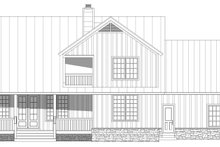 Country Exterior - Rear Elevation Plan #932-145