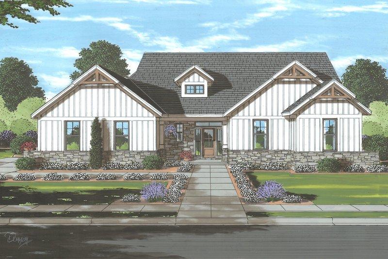 Home Plan - Farmhouse Exterior - Front Elevation Plan #46-909