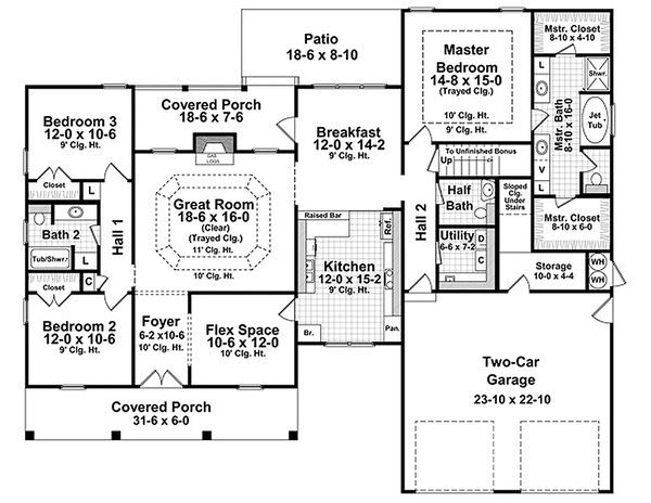 European house plan Country floor plan