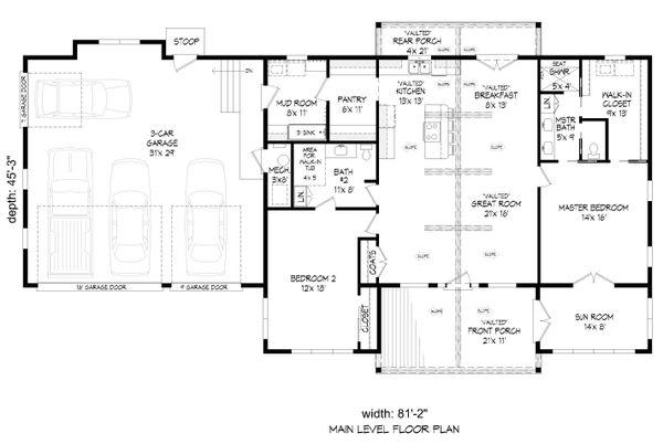 Dream House Plan - Country Floor Plan - Main Floor Plan #932-385