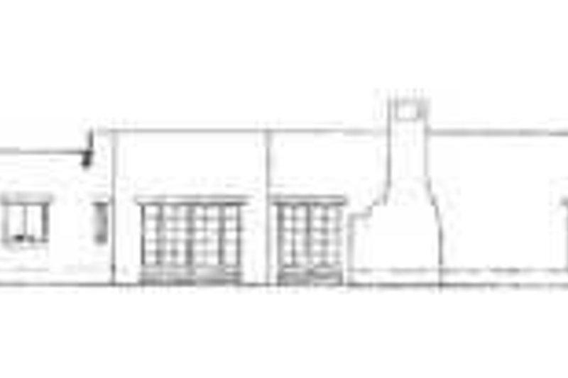 Adobe / Southwestern Exterior - Rear Elevation Plan #72-176 - Houseplans.com