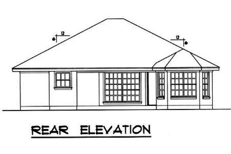 Farmhouse Exterior - Rear Elevation Plan #40-164 - Houseplans.com