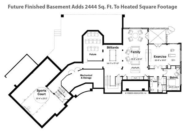 Craftsman Style House Plan - 4 Beds 3 Baths 6145 Sq/Ft Plan #928-104 Floor Plan - Other Floor Plan