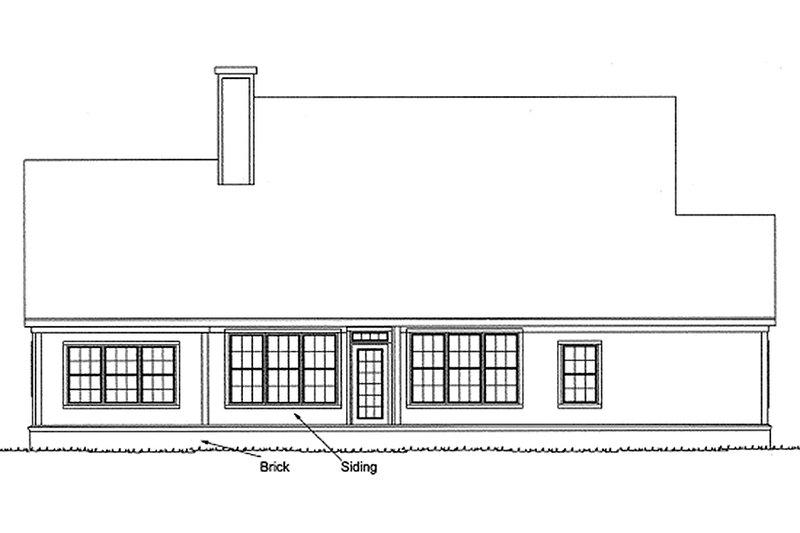 Farmhouse Exterior - Rear Elevation Plan #20-119 - Houseplans.com
