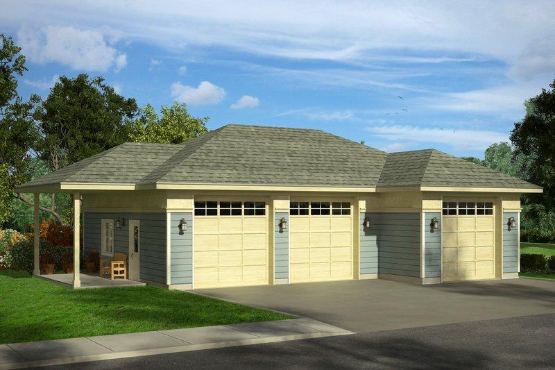 Prairie Exterior - Front Elevation Plan #124-1053