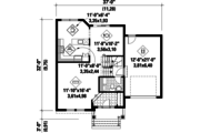 Country Style House Plan - 3 Beds 1 Baths 1664 Sq/Ft Plan #25-4602 Floor Plan - Main Floor Plan