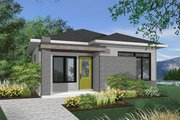Contemporary Style House Plan - 2 Beds 1 Baths 629 Sq/Ft Plan #23-2299 Exterior - Front Elevation