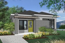 Home Plan - Contemporary Exterior - Front Elevation Plan #23-2299