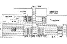 Colonial Exterior - Rear Elevation Plan #3-254