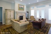 European Style House Plan - 5 Beds 5 Baths 3378 Sq/Ft Plan #929-1008 Interior - Family Room