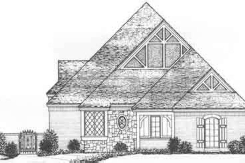 Tudor Style House Plan - 3 Beds 3 Baths 2348 Sq/Ft Plan #310-488 Exterior - Front Elevation