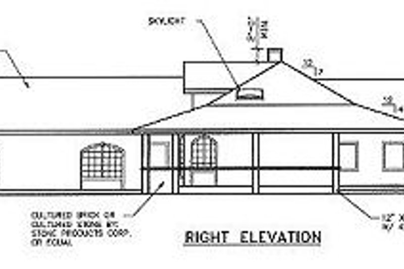 Ranch Exterior - Other Elevation Plan #60-452 - Houseplans.com