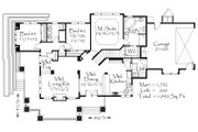 Prairie Style House Plan - 3 Beds 2 Baths 2264 Sq/Ft Plan #509-43 Floor Plan - Main Floor Plan