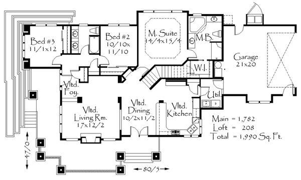 Prairie Floor Plan - Main Floor Plan Plan #509-43