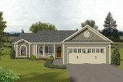Traditional Style House Plan - 3 Beds 2 Baths 1381 Sq/Ft Plan #56-115 Exterior - Front Elevation