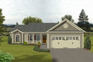 Architectural House Design - Traditional Exterior - Front Elevation Plan #56-115
