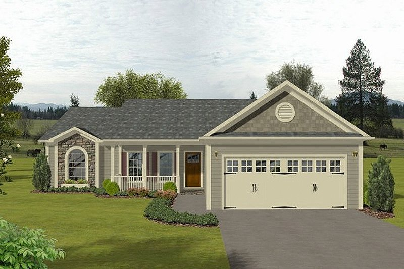 Dream House Plan - Traditional Exterior - Front Elevation Plan #56-115