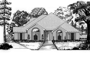 Dream House Plan - Traditional Exterior - Front Elevation Plan #62-117
