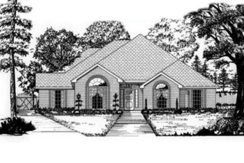 Traditional Exterior - Front Elevation Plan #62-117 - Houseplans.com