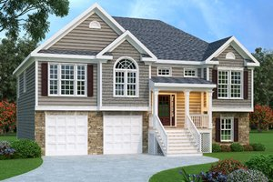 Colonial Exterior - Front Elevation Plan #419-120
