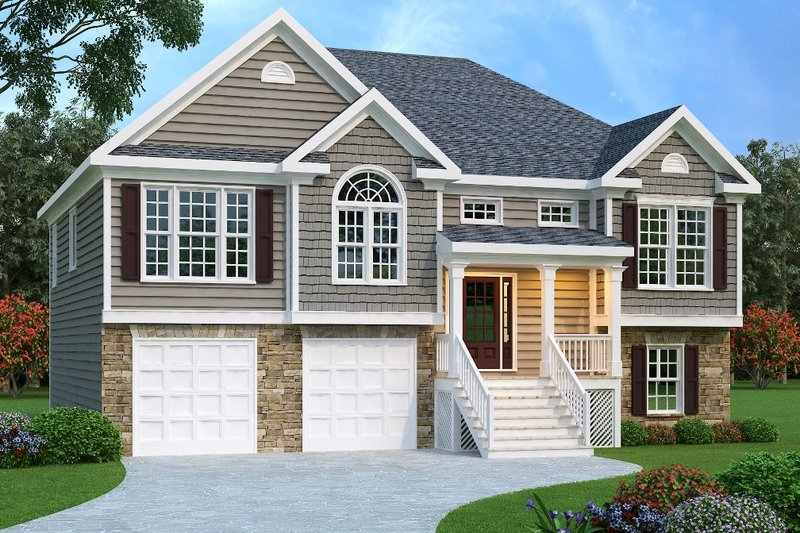 Colonial Exterior - Front Elevation Plan #419-120 - Houseplans.com