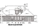 European Style House Plan - 4 Beds 3.5 Baths 2406 Sq/Ft Plan #310-368 Exterior - Rear Elevation