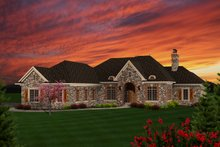 Dream House Plan - Ranch Exterior - Front Elevation Plan #70-1126
