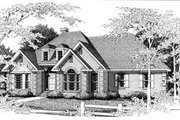 European Style House Plan - 3 Beds 2 Baths 1990 Sq/Ft Plan #10-114 Exterior - Front Elevation