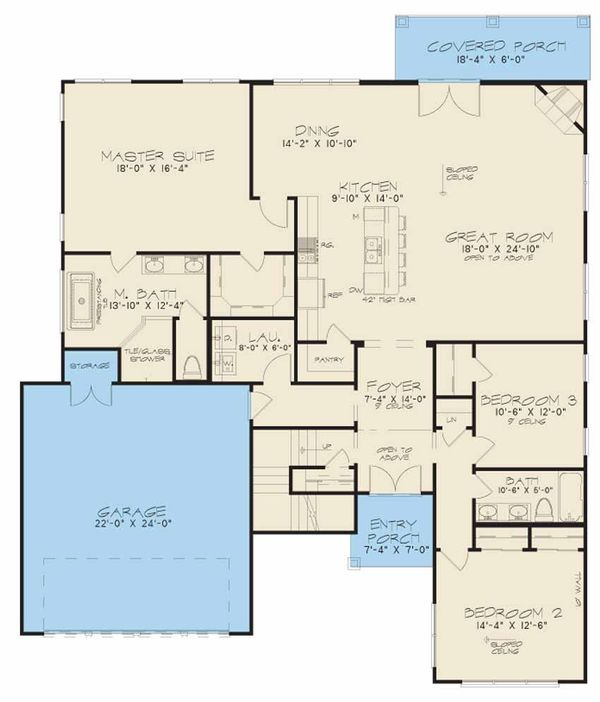 Home Plan - Modern Floor Plan - Main Floor Plan #17-2602
