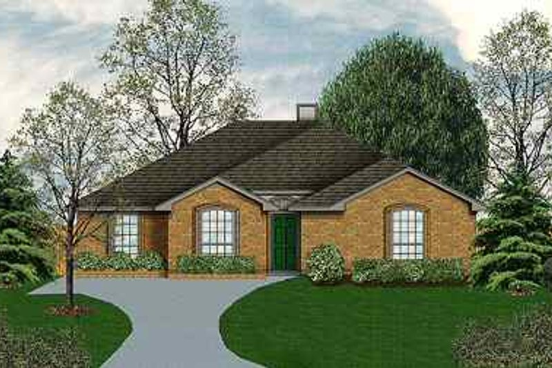 Traditional Exterior - Front Elevation Plan #84-111 - Houseplans.com