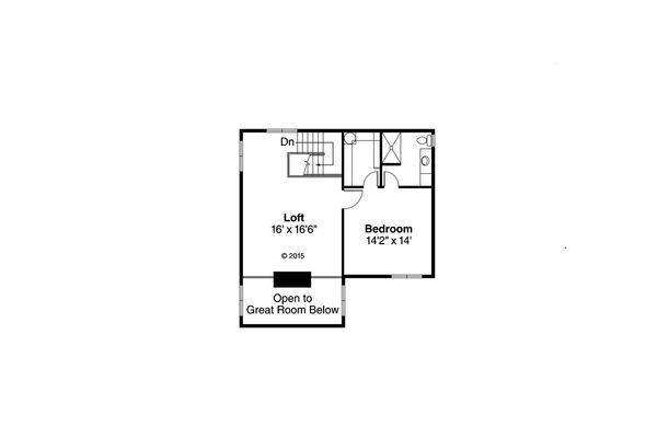 Mediterranean Floor Plan - Upper Floor Plan Plan #124-1074