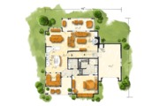 Country Style House Plan - 5 Beds 3.5 Baths 2687 Sq/Ft Plan #942-46 Floor Plan - Main Floor