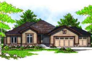 Ranch Exterior - Front Elevation Plan #70-683