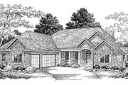 Traditional Style House Plan - 3 Beds 2.5 Baths 2645 Sq/Ft Plan #70-435 Exterior - Front Elevation