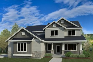 Architectural House Design - Traditional Exterior - Front Elevation Plan #920-100