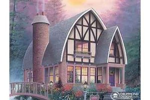 Tudor Exterior - Front Elevation Plan #23-624