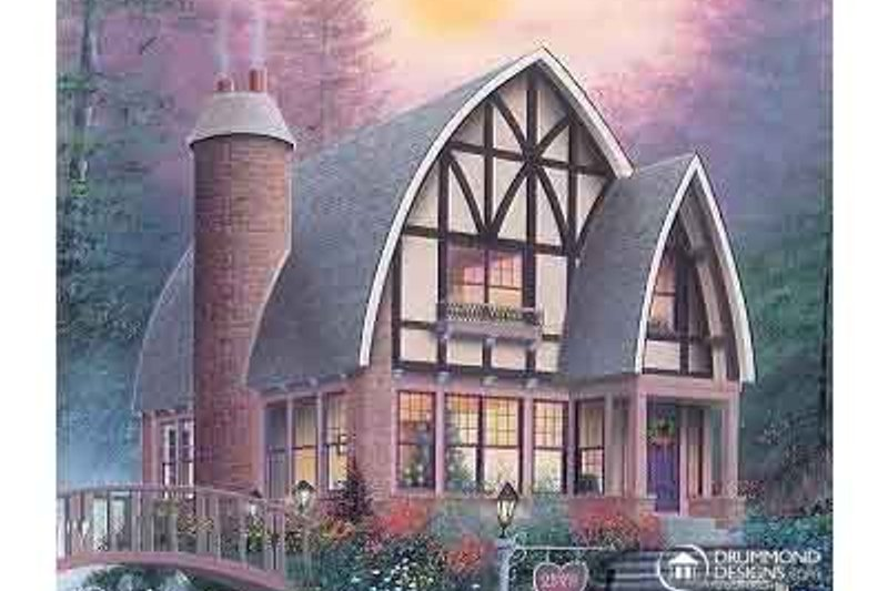 Dream House Plan - Tudor Exterior - Front Elevation Plan #23-624