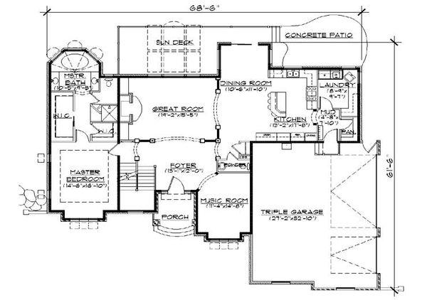 European Floor Plan - Main Floor Plan Plan #5-382